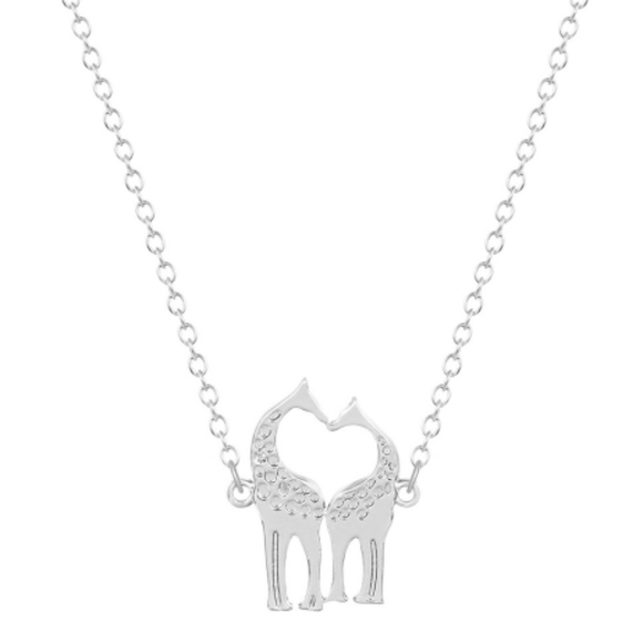 198beb8c7 Jewelry   18k White Gold Giraffe Love Pendant Necklace   Poshmark